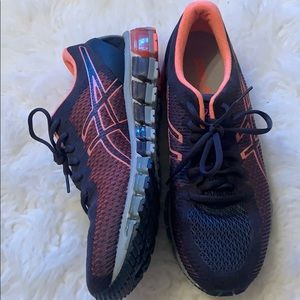 NEW ASICS gray and pink athletic shoes- size 11